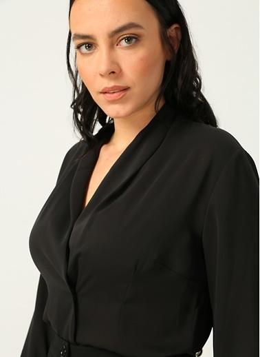 Ekol Ekol 02047.1 Siyah Kadın Bluz Siyah